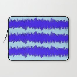 Two Tone Blue Wave Laptop Sleeve