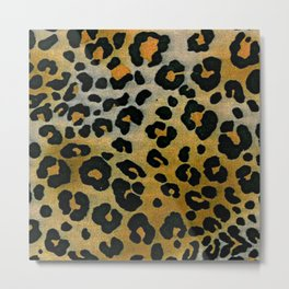 Cheetah Animal Pattern Print Metal Print