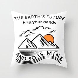 Earth Day Kids Future Boys Girls Climate Change Awareness design Throw Pillow