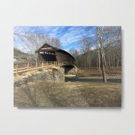 Virginia Covered Bridge Metal Print