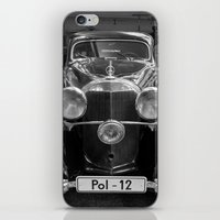 car iPhone & iPod Skins featuring Car vintage by Veronika