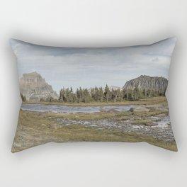 Mt Reynolds and Heavy Runner from Logan Pass Rectangular Pillow