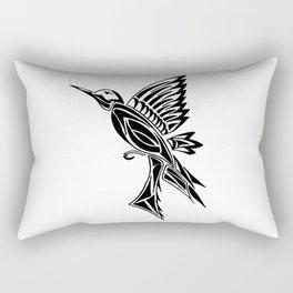 Hummingbird Tattoo Design Rectangular Pillow