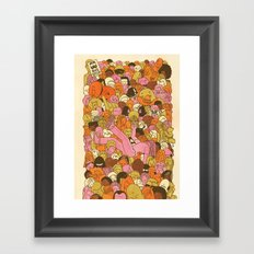 Crowd Surfer Framed Art Print