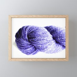 Purple Yarn Framed Mini Art Print