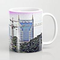 nashville Mugs featuring Nashville Grit by Andooga Design