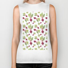 Feel the Beet in Radish White Biker Tank