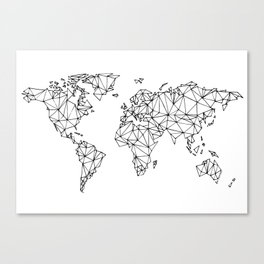 World map white Canvas Print