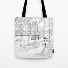 Minimal City Maps - Map Of Phoenix, Arizona, United States Tote Bag