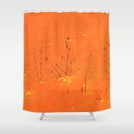 Winter Grasses Shower Curtain