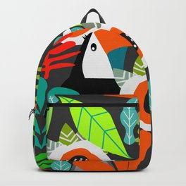 Tropical vibe with toucans Backpack