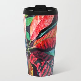 Colorful Tropical Leaves 2 Travel Mug