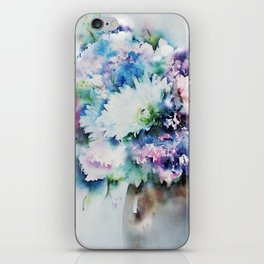 Still Life Rose Bouquet Watercolour iPhone Skin