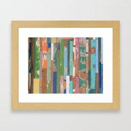 Maui Fence Hawaii Colorful Art Framed Art Print