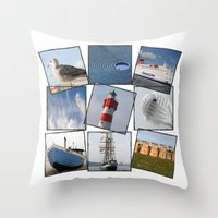 nautical Throw Pillows featuring Nautical by Anne Seltmann
