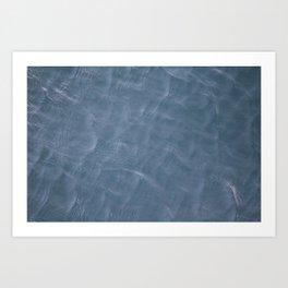 Caribbean Blue Water Ripples Art Print