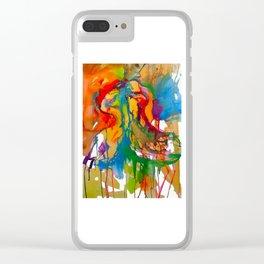 Flamingo Tango Clear iPhone Case