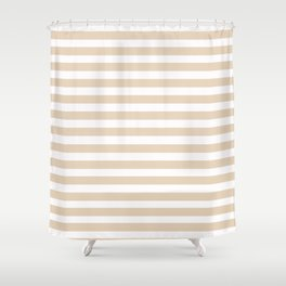 Taupe + Stripe Shower Curtain