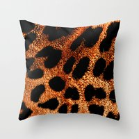 furry Throw Pillows featuring FURRY by Catspaws
