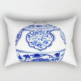 Blue and White China Ginger Jar 3 Rectangular Pillow