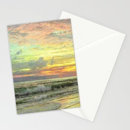 Coastal Newport, Rhode Island Landscape Painting by William Trost Richards Stationery Cards