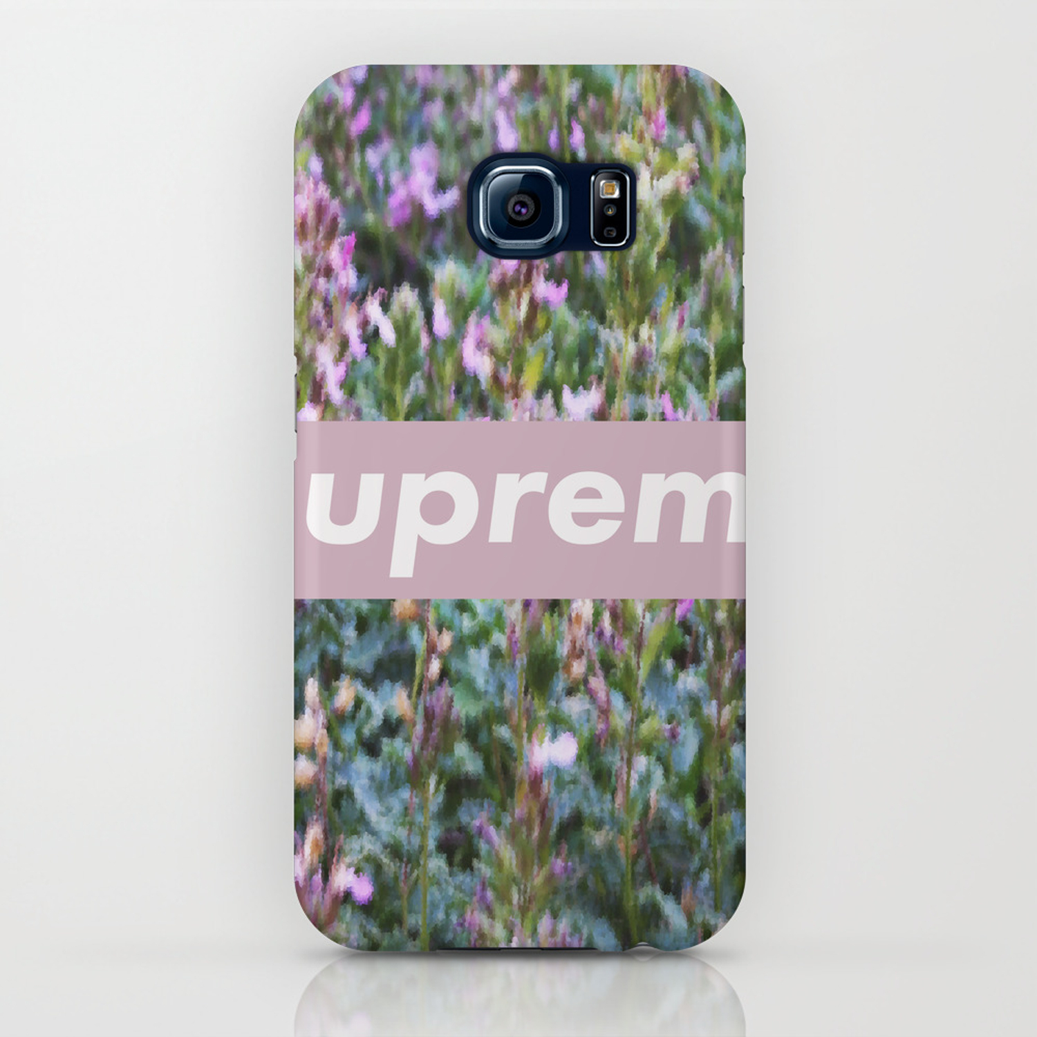low priced 6b58b b3243 fake flowers supreme iPhone Case