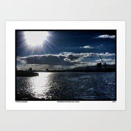 Pumphouse View of Belfast Lough Art Print