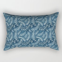 Indigo leaves Rectangular Pillow