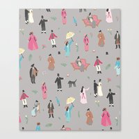 pride and prejudice Canvas Prints featuring Pride and Prejudice by Sara Maese