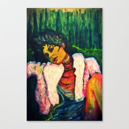 Marleen in the Wood Canvas Print