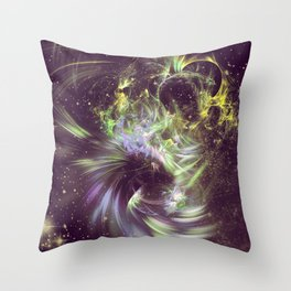 Twisted Time - Black Hole Effects Throw Pillow