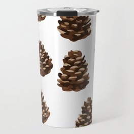 Seasonal Pine Cones Travel Mug