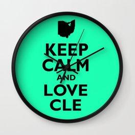 Keep Calm and Love CLE Wall Clock