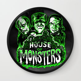 House of Monsters Phantom Frankenstein Dracula classic horror Wall Clock