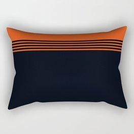 70s Orange Retro Striped Pattern Rectangular Pillow