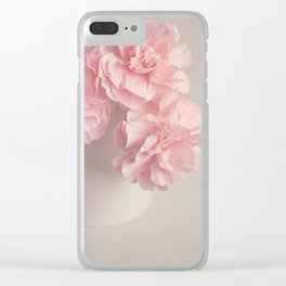 Frilly pink Carnations flowers. Clear iPhone Case