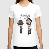 coral T-shirts featuring Coral by kaylieghkartoons