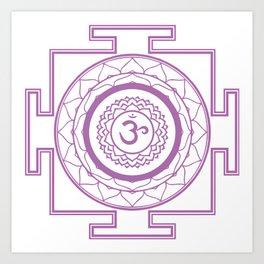 Sri Yantra Crown Chakra Art Print