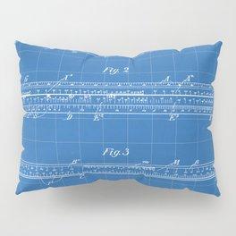 Engineering Patent - Engineers Slide Rule Art - Blueprint Pillow Sham