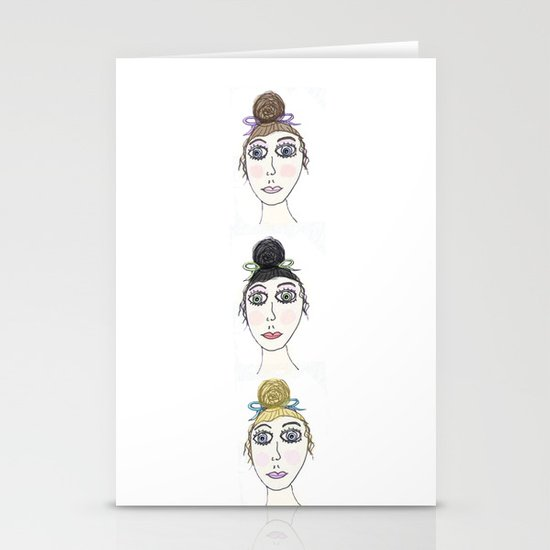 Pretty Ladies Stationery Cards