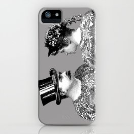 Tattooed Victorian Lovers iPhone Case