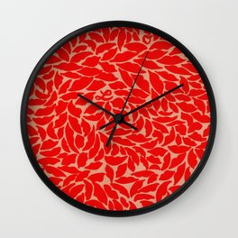 Valentine Love Kiss Red Lips Wall Clock