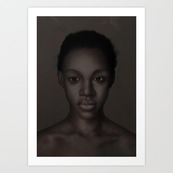 A Quiet Girl Art Print
