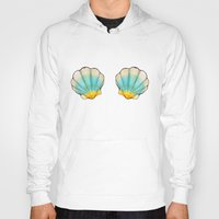 shell Hoodies featuring shell by Bárbara  Kramer