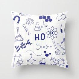 Science Cheat Sheet Throw Pillow