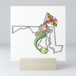 Maryland Mermaid Mini Art Print