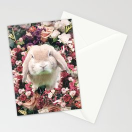 Cute Floral Bunny Rabbit Flower Stationery Cards