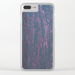 Ombre 513 - Abstract in Gray, Purple, Pink Clear iPhone Case
