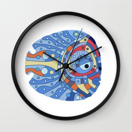 Fish art 21.4 Wall Clock