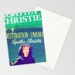 Destination Unknown - Vintage Agatha Christie Stationery Cards